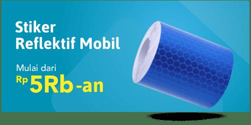 Stiker Reflektif Mobil