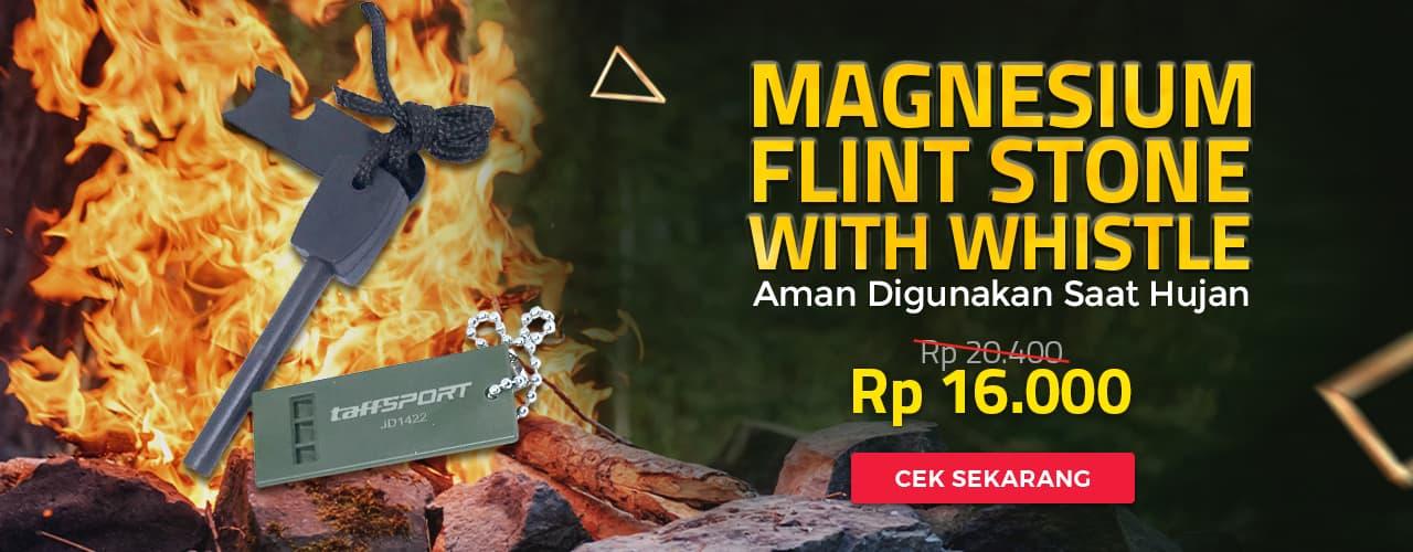 Magnesium Flint Stone With Whistle