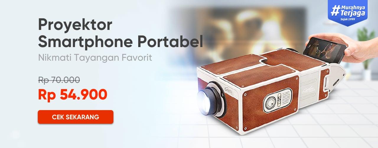 Proyektor Smartphone Portabel