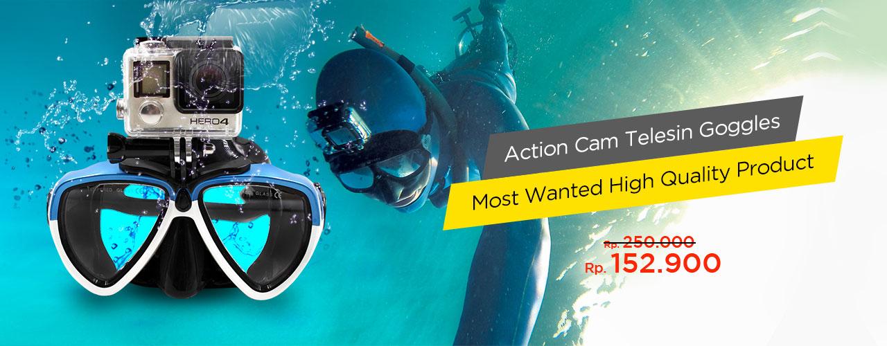 Telesin Kacamata Renang Action Cam