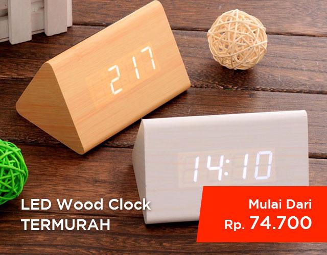 LED Wood Clock