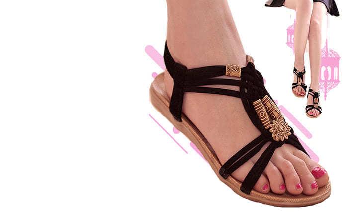 Sandal Selop Wanita Flat Bohemian Summer