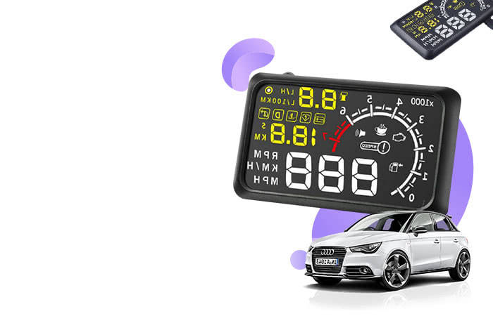 Car LED HUD Head Up Display OBD2 Interface 5.5 Inch