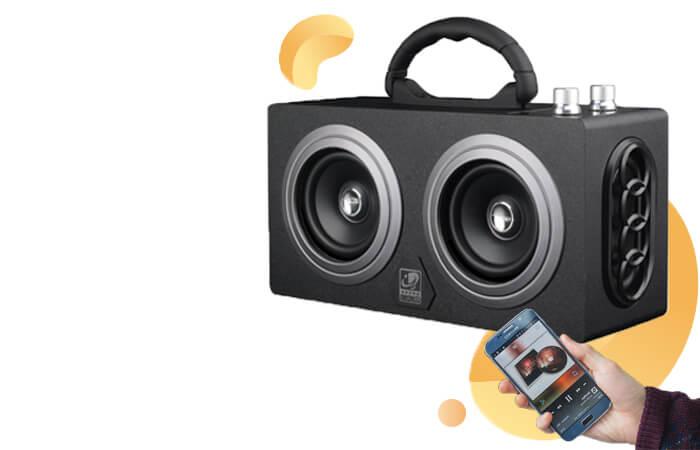 Boombox HiFi Bluetooth Loudspeaker