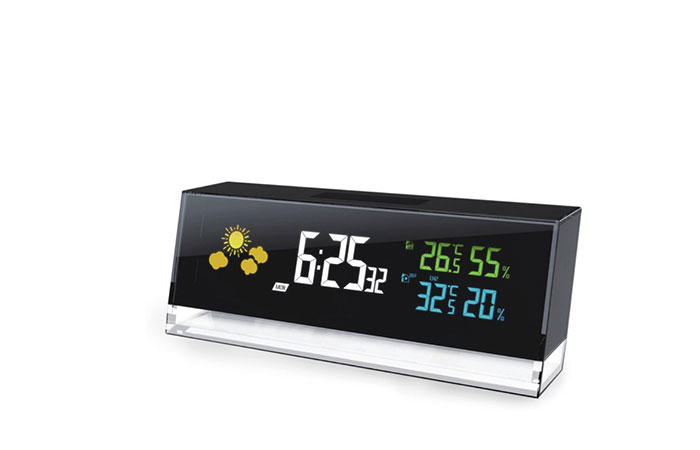 Cobblestone Weather Station Clock - YGH-393