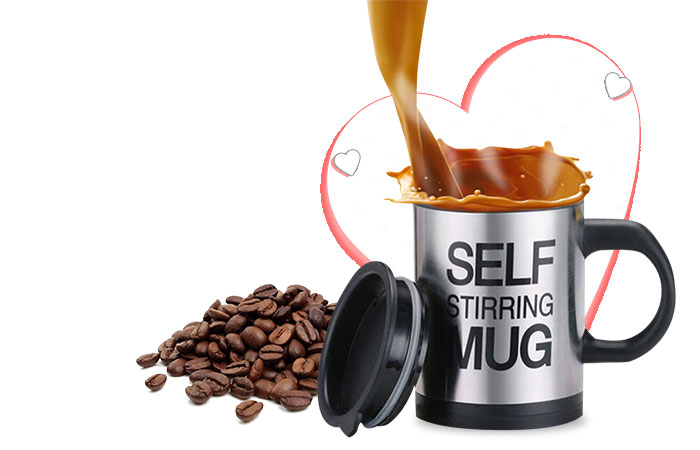 Self Stirring Coffee Cup