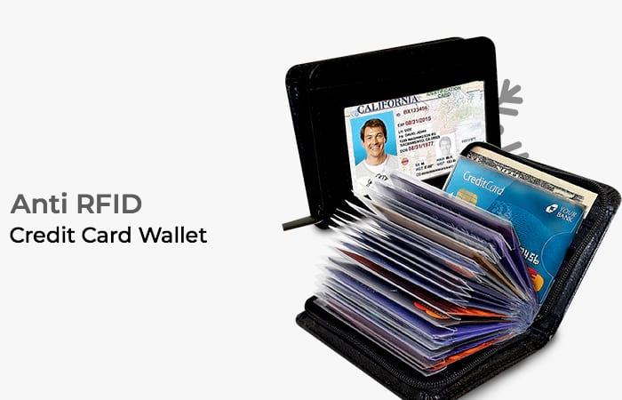 Lock Wallet Dompet Kartu Kredit Secure RFID Blocking