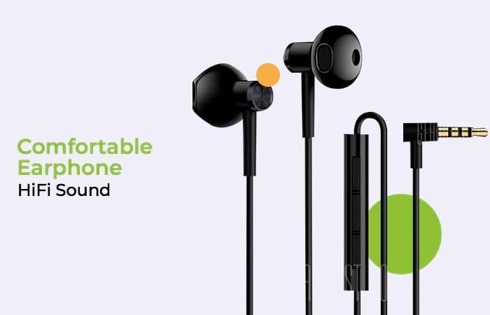 Xiaomi Earphone Earpods Half In-Ear with Mic