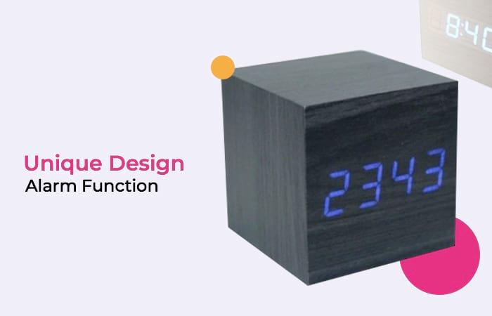 Jam Digital LED Kayu - JK-808
