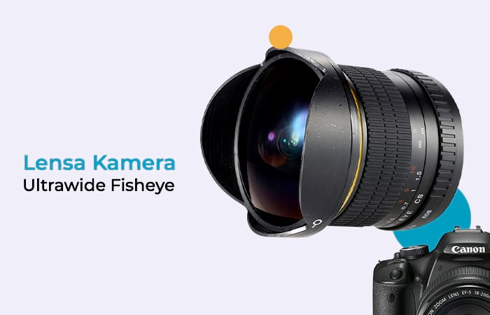 Lensa Kamera Fish Eye Fixed Focus 8mm f/3.5 for Canon