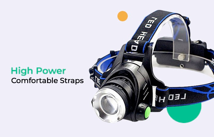 High Power Headlamp LED Cree XML L2 with Charger - 568D