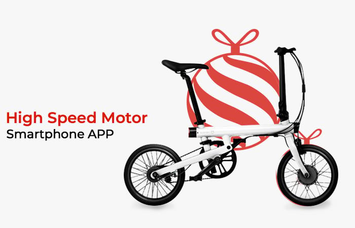 Xiaomi QiCycle Sepeda Elektrik Lipat Smart Bicycle