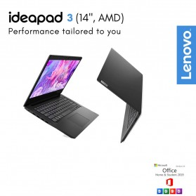 Lenovo Ideapad Slim 3 14ARE05 AMD Ryzen 3 4300U 2.7/3.7GHz 8GB 512GB SSD 14 Inch Windows 10 - 81W3001YID - Black - 1
