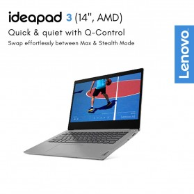 Lenovo Ideapad Slim 3 14ARE05 AMD Ryzen 3 4300U 2.7/3.7GHz 8GB 512GB SSD 14 Inch Windows 10 - 81W3001YID - Black - 3