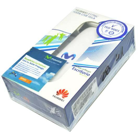 huawei e1756c logo movistar 3g usb gsm modem white
