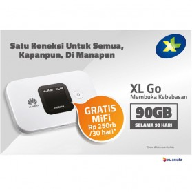 Huawei E5577 Modem 4G MiFi Bundling XL Go 90GB/3Bulan - Unlock - Black