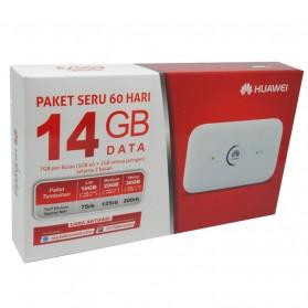 Huawei E5573 Modem 4G MiFi Bundling Telkomsel TAU 14GB/Bulan - Unlock - White