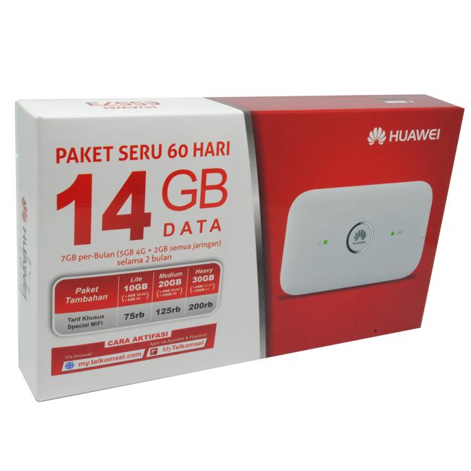 Huawei E5573 Modem 4g Mifi Bundling Telkomsel 14gb 2 Bulan Unlock