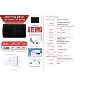 Huawei E5673 Modem 4G Mifi Bundling Telkomsel 14GB - Black - 2