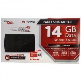 Huawei E5673 Modem 4G Mifi Bundling Telkomsel 14GB - Black - 3