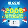 4G LTE Modem MiFi - Huawei E5573 Modem MiFi 4G LTE Bundling Perdana XL GO IZI 20GB UNLOCK - Black