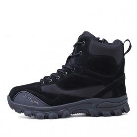 JKPUDUN Sepatu Boots Men Tactical Military Combat Camping Shoe Size 42 - A01 - Black