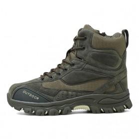 JKPUDUN Sepatu Boots Men Tactical Military Combat Camping Shoe Size 43 - FA01 - Army Green