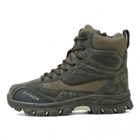 JKPUDUN Sepatu Boots Men Tactical Military Combat Camping Shoe Size 44 - FA01 - Army Green