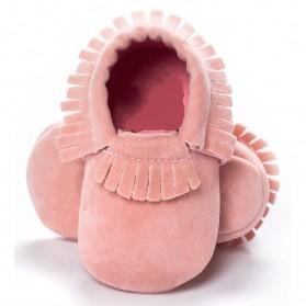 Sepatu Bayi Beludru 12CM - Pink