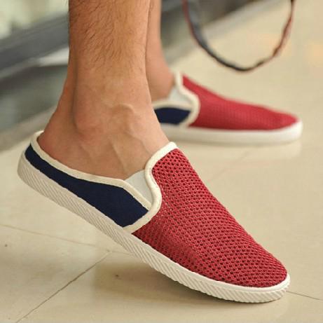 ... Sendal Sepatu Slip On Pria Size 39 - Red - 1 ...