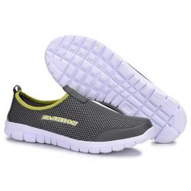 Sepatu Slip On Kasual Pria Size 39 - Dark Gray - 2