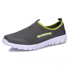 Sepatu Slip On Kasual Pria Size 39 - Dark Gray - 3