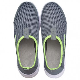 Sepatu Slip On Kasual Pria Size 39 - Dark Gray - 4