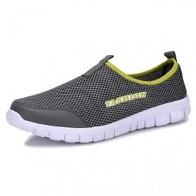 Sepatu Slip On Kasual Pria Size 41 - Dark Gray - 3