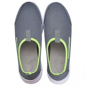 Sepatu Slip On Kasual Pria Size 41 - Dark Gray - 4