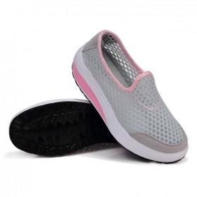 Sepatu Slip On Platform Wanita Size 37 - Gray