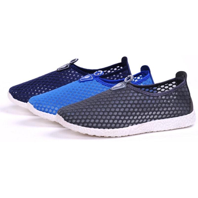 ... Sepatu Slip On Mesh Kasual Pria Size 44 - Dark Blue - 8 ...