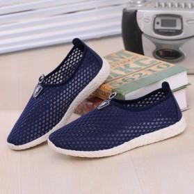 Sepatu Slip On Mesh Kasual Pria Size 39 - Dark Blue - 3