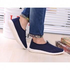 Sepatu Slip On Mesh Kasual Pria Size 39 - Dark Blue - 6