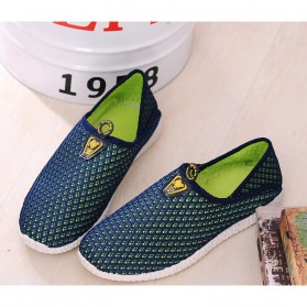 Sepatu Slip On Mesh Pria Size 39 - Green/Blue - 3
