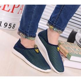 Sepatu Slip On Mesh Pria Size 39 - Green/Blue - 5