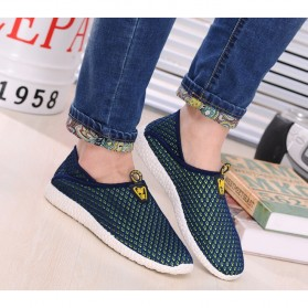 Sepatu Slip On Mesh Pria Size 40 - Green/Blue - 5