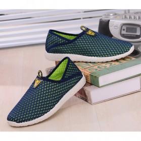 Sepatu Slip On Mesh Pria Size 43 - Green/Blue - 2