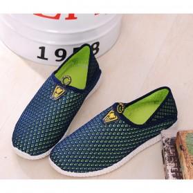 Sepatu Slip On Mesh Pria Size 43 - Green/Blue - 3