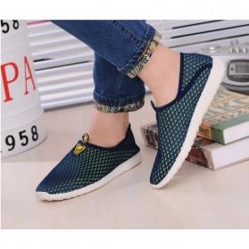 Sepatu Slip On Mesh Pria Size 43 - Green/Blue - 4