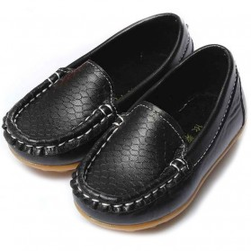 Sepatu Mocasin Kulit Anak Size 26 - Black