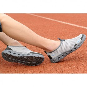 Tino Kino Sepatu Slip On Sport Pria Size 43 - HTD1049 - Gray - 5