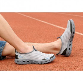 Tino Kino Sepatu Slip On Sport Pria Size 44 - HTD1049 - Gray - 4