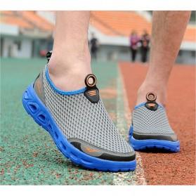 Sepatu Slip On Sport Pria Size 41 - Blue - 4