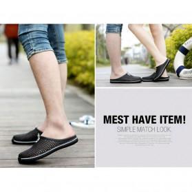 LEDA Sepatu Sendal Slip On Santai Size 40 - Black - 3